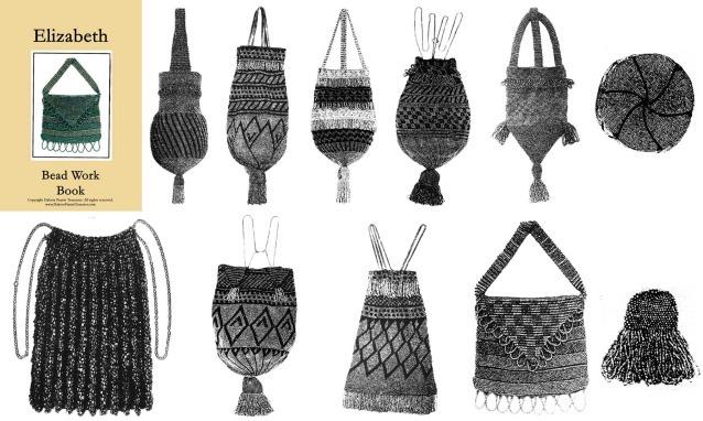 1922 FLAPPER Era Beaded Purse Bag Bead Pattern Book Crochet Knit Handbags Purses