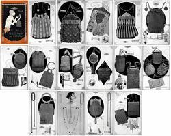 1924 Flapper Beading Patterns Book Crochet Knit Bead Purses Bags Purse Handbags