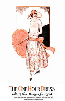 1924 One Hour Dress (17 Sewing Patterns) BOOK 1 Flapper Era DIY Beautiful Frocks