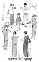 1924 One Hour Dress (17 Sewing Patterns) BOOK 1 Flapper Era DIY Beautiful Frocks image 3