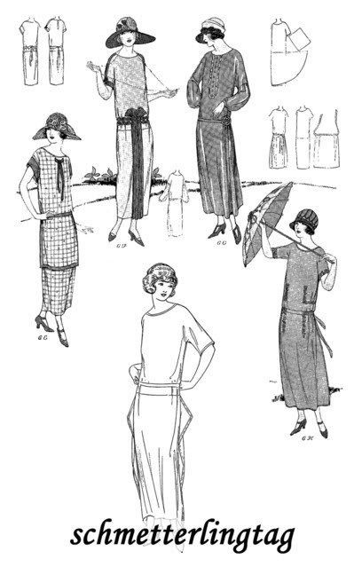 1924 One Hour Dress (17 Sewing Patterns) BOOK 1 Flapper Era DIY Beautiful Frocks image 4