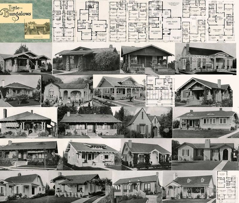 1927 Floor Plans CD Pre-Depression Era Plan Home Houses Flapper Era Architecture