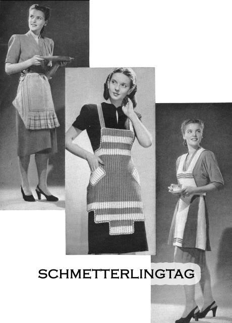1945 WWII Swing Era Apron Making Book Ladys Girls Baby Bibs Sewing Guide Atomic