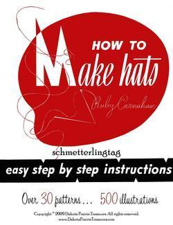 1966 Millinery Book Retro Hat Making Make Hats 30 Patterns Jackie O Era Styles