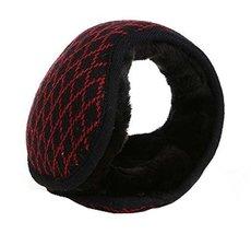 Unisex Foldable Earmuffs Warm Knit Ear Warmers Fleece Winter EarMuffs, R... - £10.23 GBP