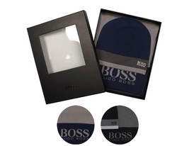 Hugo Boss Premium Scarf and Beanie Knitted Fabric Gift Box Set 50376789