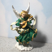 ANGELS BESIDE ME FIGURINE STATUE SCULPTURE ALYSSA GREEN MANDOLIN INGRID ... - $18.52
