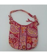Vera Bradley Small Shoulder Bag Pink Paisley Knotted Straps  - $18.48
