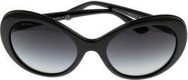New Bvlgari Sunglasses Round Women Black BV8159BQ 901/8G Fashion - $216.81