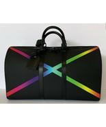 Louis Vuitton Keepall Bandouliere Taiga Rainbow New w Tags - $3,955.05