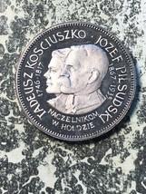 1967 Polonia Kosciuszko/Pilsudsky Moneda Medalla Lote #Jm777 de Plata ! ... - $69.97