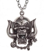 Motorhead: Warpig Metal Rock Band Pendant Pewter Necklace Alchemy Rocks PP505 - $26.95