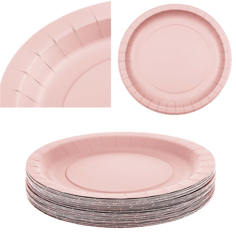 ... Light Pink Disposable Plates 40 Pack 9 Inch Sturdy Birthday Wedding Baby Shower ...  sc 1 st  Bonanza & Light Pink Disposable Plates 40 Pack 9 Inch and 50 similar items