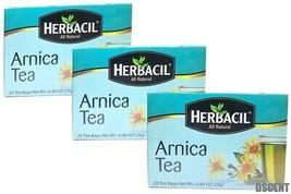 3 Pack of Herbacil All Natural Arnica Tea/Te Arnica 25 Bags/Saquitos - $15.83