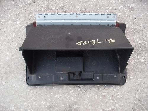 95-97 cougar/thunderbird glove box assembly dark brown
