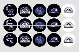 Printed COLORADO ROCKIES inspired 1 inch images for bottlecaps, craft - $2.00