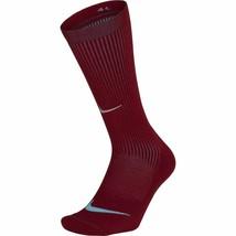 Nike Unisex Elite Cushioned Crew Running Socks Maroon 10-11.5 SX5825-677 - $22.00
