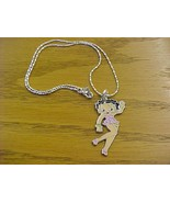 betty boop charm with necklace - brand new - $12.99