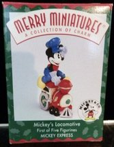Hallmark Merry Miniatures Mickey's Locomotive 1st in Series 1998 - $5.93