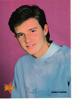 Ricky Schroder Chris Young teen magazine pinup clipping blue sweater star