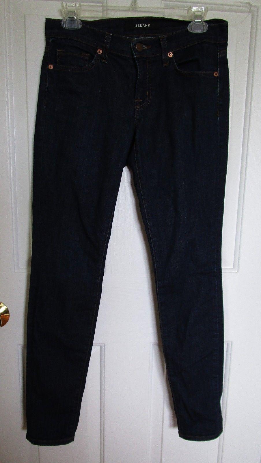 "J BRAND Women's Dark Denim Skinny Leg ""Pure"" 5 Pocket Jean Size 27"