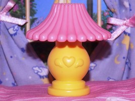 Fisher Price Loving Family Dream Dollhouse yellow Pink Lamp Light Living... - $3.95
