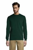 Lands' End Men's Long Slv Essential T-shirt Evergreen XL NEW 395792 - £22.89 GBP