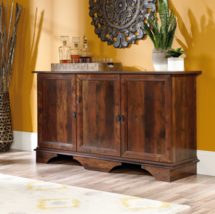 Credenza Storage Cabinet Buffet Server Sideboard large Low Cherry Organi... - $251.50