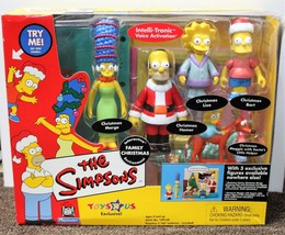 SIMPSONS FAMILY CHRISTMAS PLAYSET World of Springfield Toys R Us Playmat... - $44.50