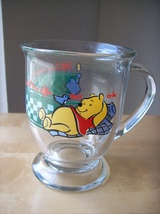 "Disney Winnie the Pooh Anchor Hocking ""Is the Way to Be"" Pedestal Mug  - $15.00"