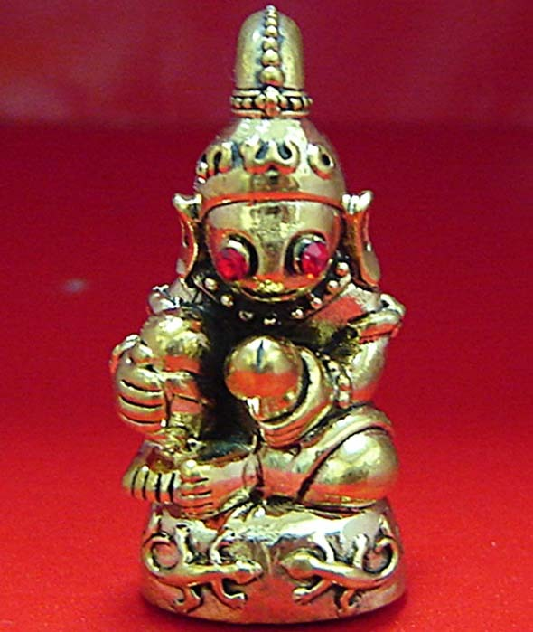 Thai Souvenir Amulets TALISMAN PRA YA NGUNG LUENG THONG PENDATS KRUBA SUBIN - $79.00