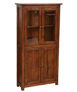 Biscottini Handcrafted Solid Wood Linden Display Hutch Cabinet. Made in ... - $815.83