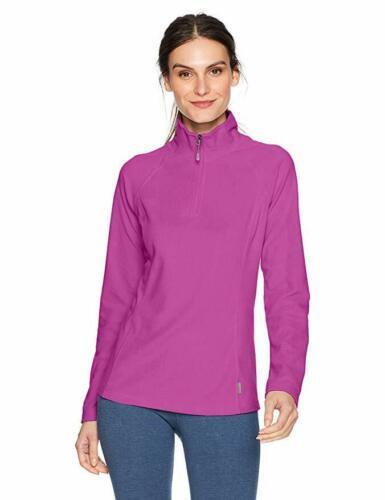 Large 12-14 Women's White Sierra Alpha Beta Quarter Zip II Fleece Pullover NEW