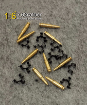 """1/6 Scale 7.62 caliber 50PC metal machine bullet chain Toys For 12""""Actio... - $12.60"""