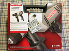 Craftsman 1/2 Inch Variable Speed Drill 5.5 Amp 910115 - $94.99
