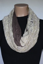 NEW Collection 18 Eighteen Women's Neck Infinity Scarf Pecan Sandie Gold... - $10.88