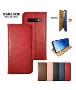Magnetic Adsorption Phone Case For Samsung S10 S10E Plus Magnet PU Flip ... - $14.99