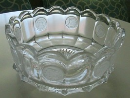 """Vintage Fostoria Coin Glass Bowl Clear 7.5""""  - $14.84"""
