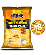 10-Count Pack HotHands 18 Hours Heat Body & Hand Foot Super Warmer Value... - $18.97