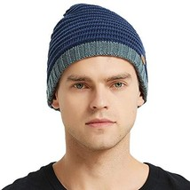 AxyOFsp Mens Winter Knit Beanie Thick Ski Daily Hat Warm Soft Cap - €8,72 EUR