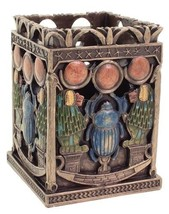 "3.75"" Egyptian Scarab & Babi Utility Holder Egypt Home Decor Box - $28.00"