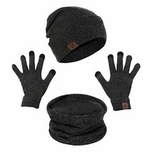 Winter Warm Hat Beanie thick infinity Scarf Smart Touch screen Texting G... - €17,08 EUR