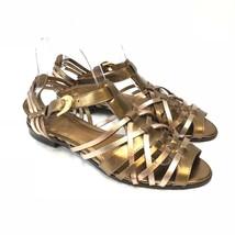 Circa Joan & David Nadalia Womens Bronze/Metallic Leather sandals size 8... - $12.59