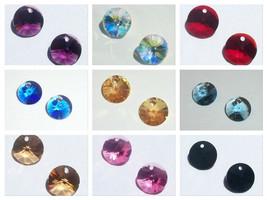 Swarovski elements Rivoli pendant style 6428 crystal pendant 6mm 8mm 12m... - $1.73+