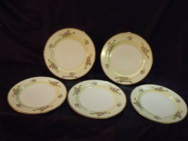 """(5) MEITO CHINA JAPAN 'THE BERKSHIRE' HAND PAINTED 10"""" DINNER PLATES NOS - $44.55"""