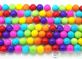 Mixed Czech Opaque Coated Glass Pearl Round Beads 6mm 8mm 10mm 12mm 14mm... - $1.16+