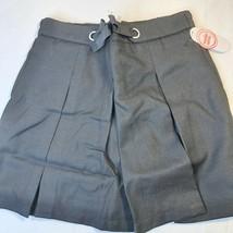 Wonder Nation Uniform Pleated Scooter Skirt Black 12 Comfortable Modest NEW - $12.62
