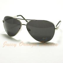 DQ Classic COP PILOT Aviator SPRING HINGE Sunglasses SILVER - $6.88