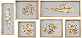 Uttermost Golden Leaves Shadow Box Wall Panel - Set of 6 - $411.40