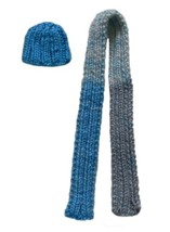 Barbie Doll Clothes  Knit Multi-Color Hat and Scarf 2-Piece Set Handmade - $6.99